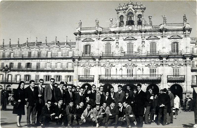Estudiantes canarios en Salamanca