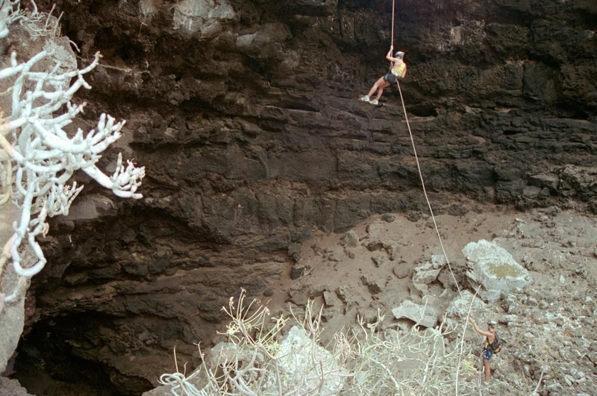 Escalada en la Cueva de las Palomas I