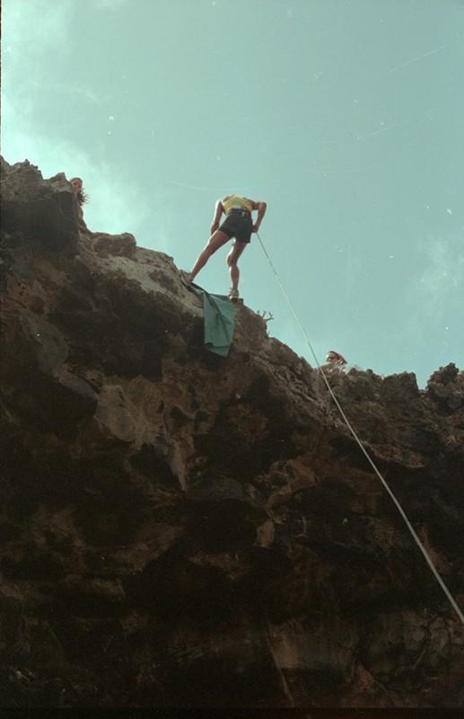 Escalada en la Cueva de las Palomas III