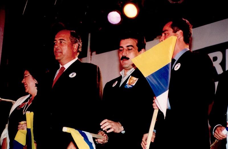 CC durante la campaña electoral de 2000 I