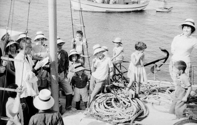Bendición de un barco en Caleta de Sebo I