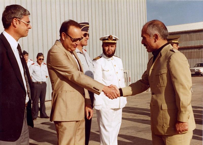 Visita del rey Hussein de Jordania