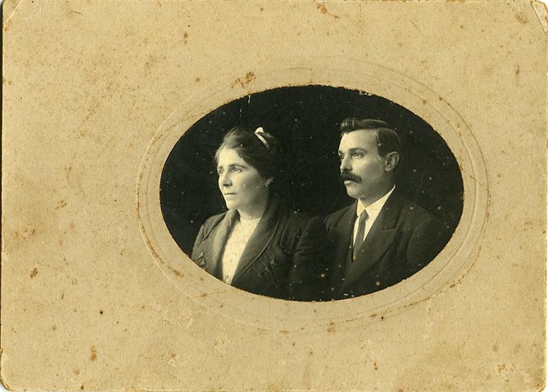 Retrato de Zoilo Martín Betancort y su esposa Antonia I