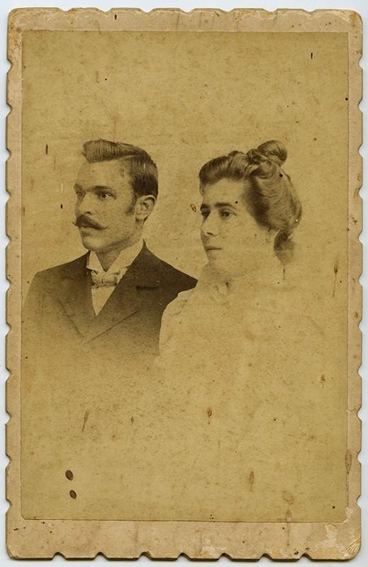 Retrato de Zoilo Martín Betancort y su esposa Antonia II