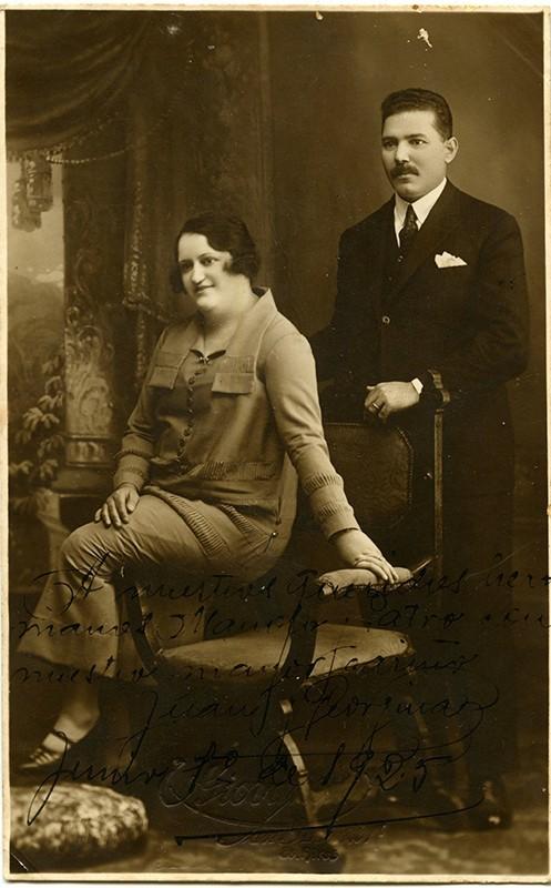 Retrato de Juan Padilla Martínez y Genoveva