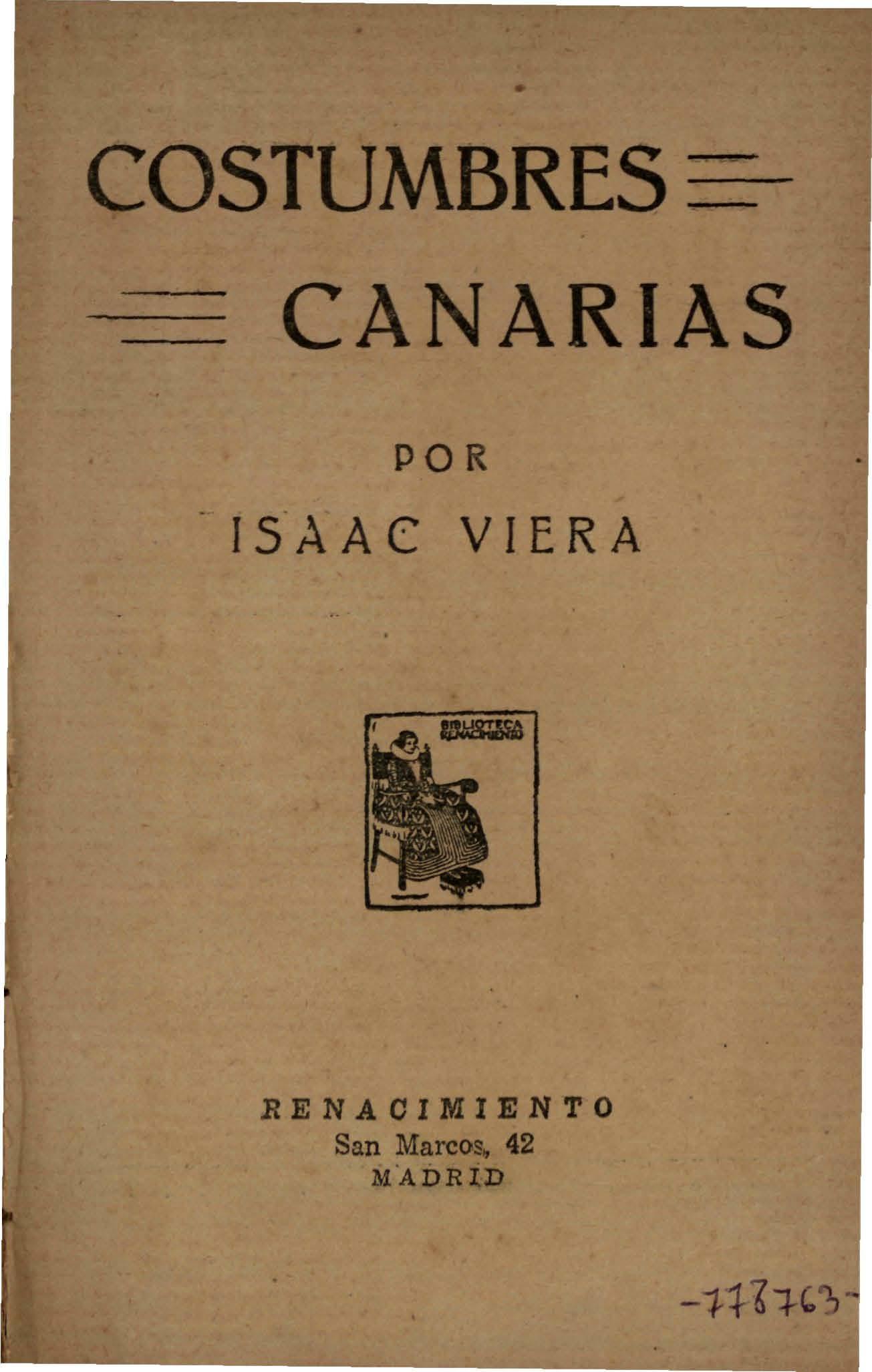 Costumbres Canarias