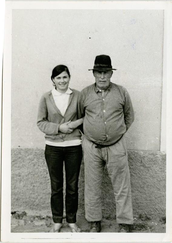Abuelo y nieta en Teseguite