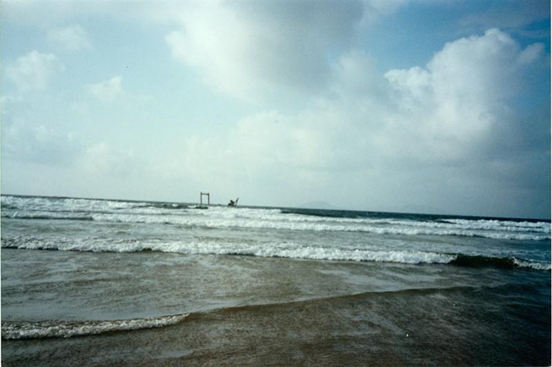 Barco hundido en La Caleta de Famara
