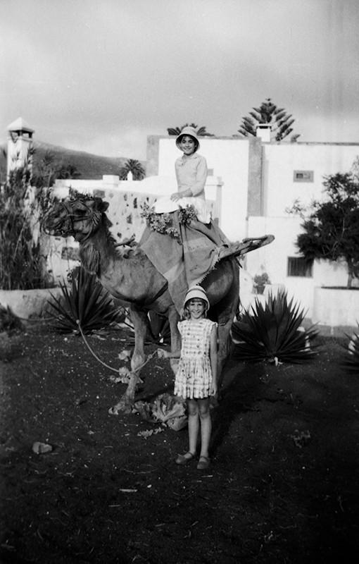 Niñas con camello