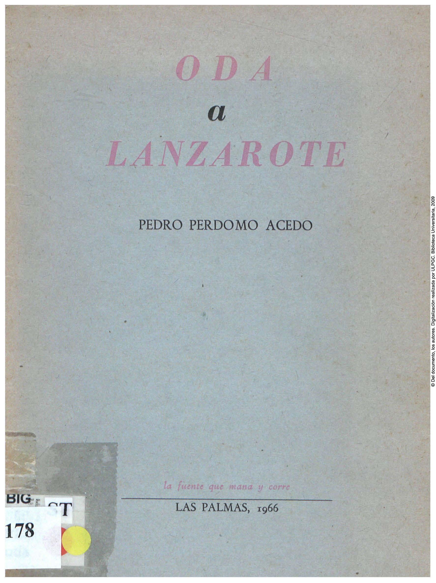 Oda a Lanzarote