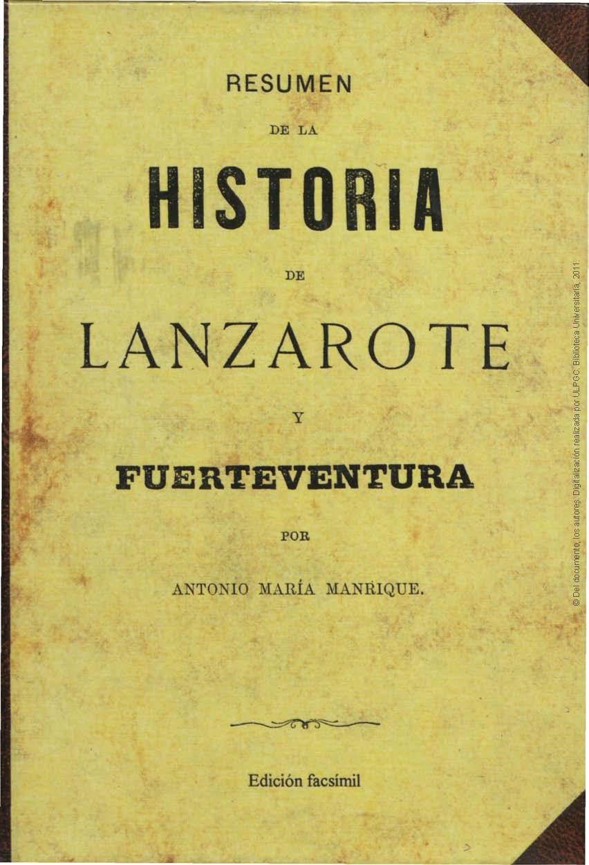 Resumen de la historia de Lanzarote y Fuerteventura