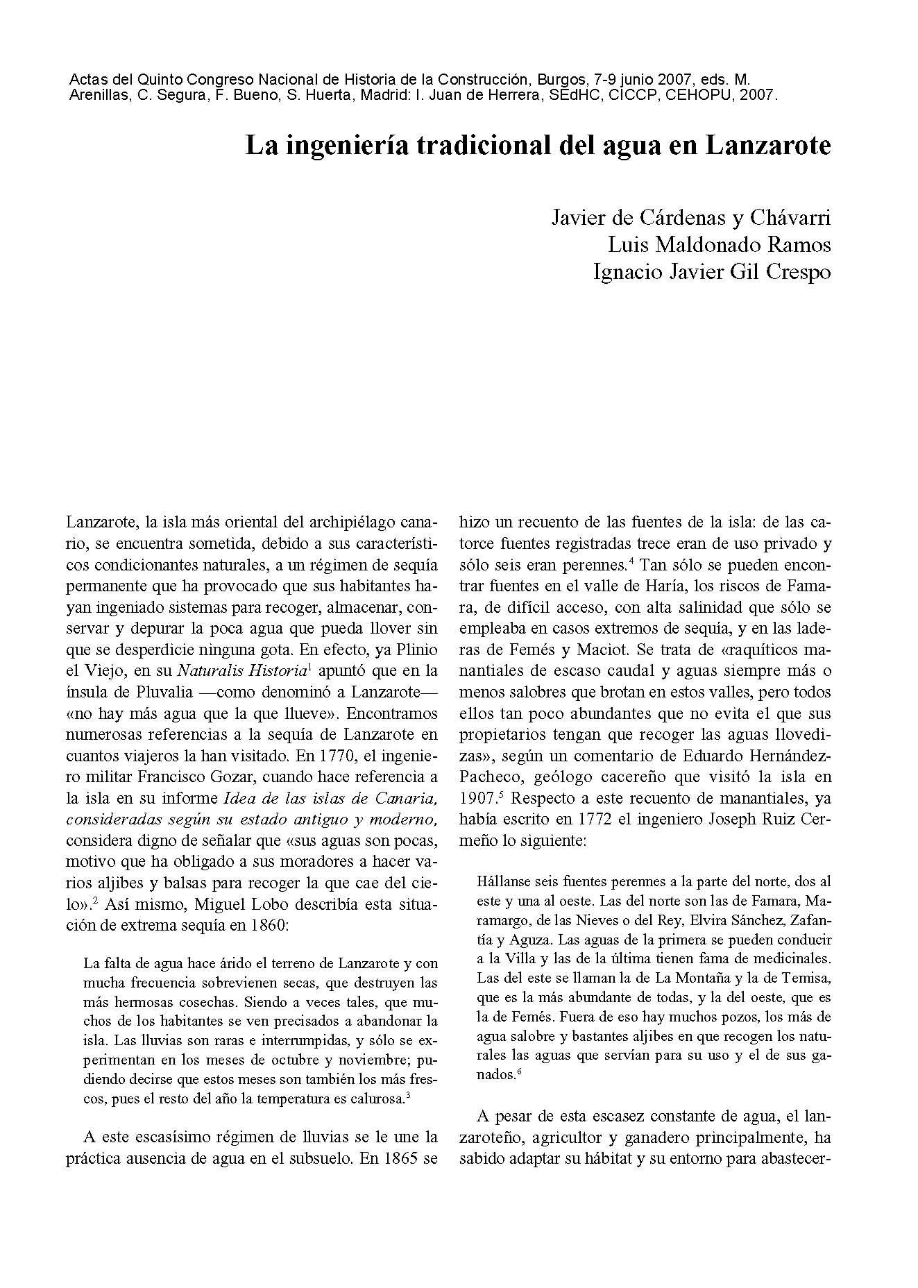 La ingeniería tradicional del agua en Lanzarote