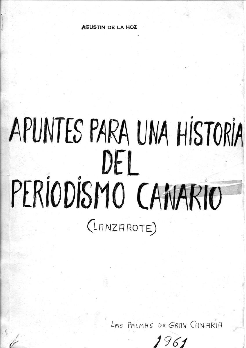 Apuntes para una historia del periodismo canario (Lanzarote)