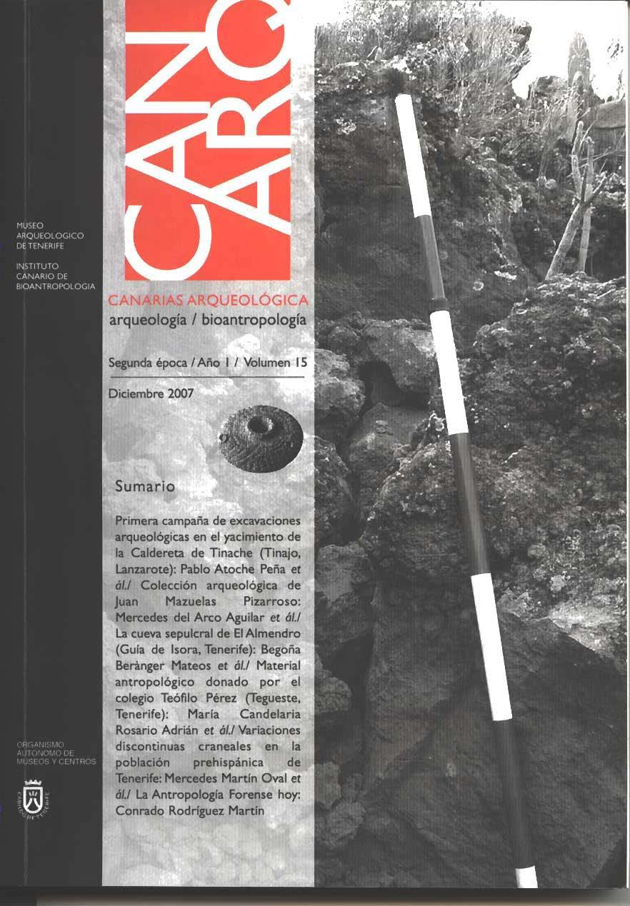 Primera campaña de excavaciones arqueológicas en el yacimiento de la caldereta de Tinache (Tinajo, Lanzarote)