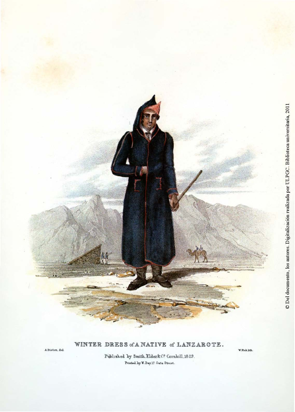 Winter dress of a native of Lanzarote