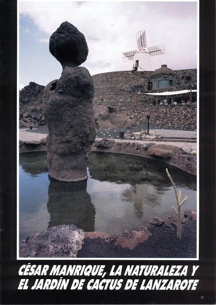 César Manrique, la naturaleza y el Jardín de Cactus de Lanzarote