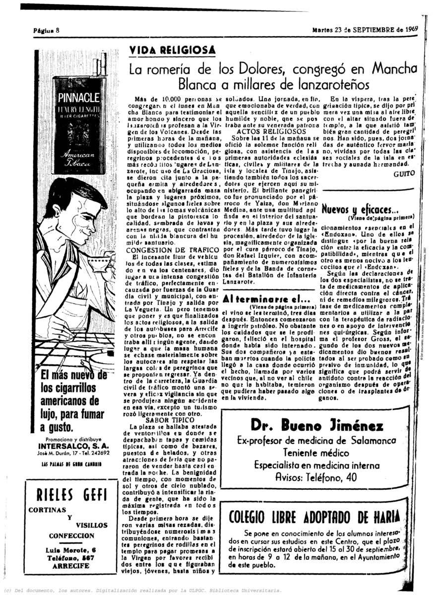 Romería de Los Dolores 1969