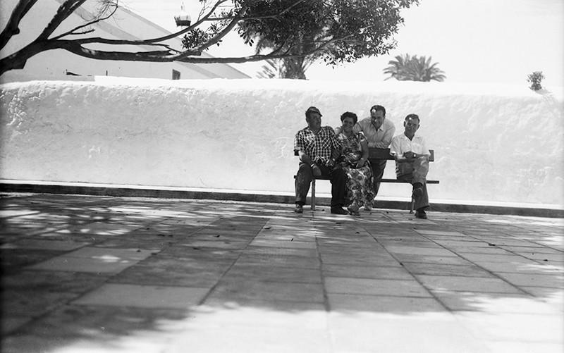 Retrato en la plaza de Haría