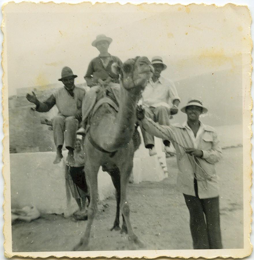En La Graciosa con camello