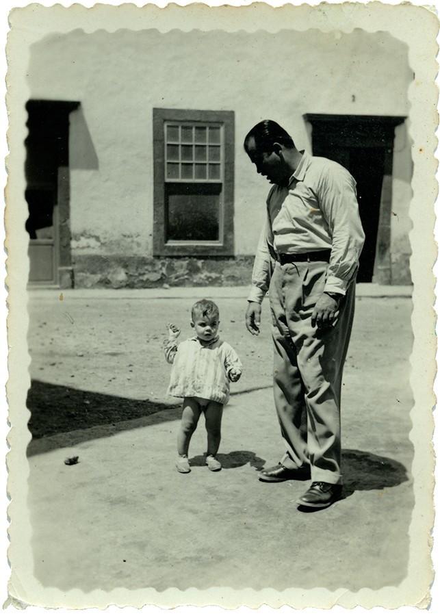 Fefo Rodríguez junto a su hijo