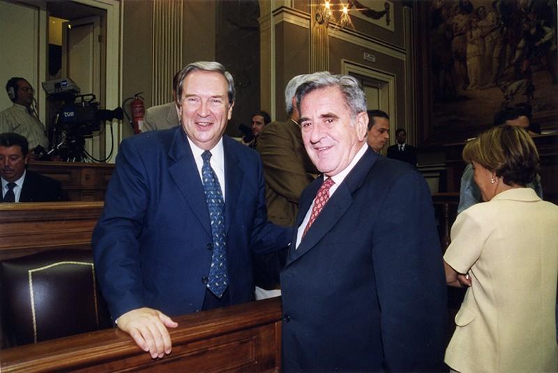 Jerónimo Saavedra y Manuel Hermoso