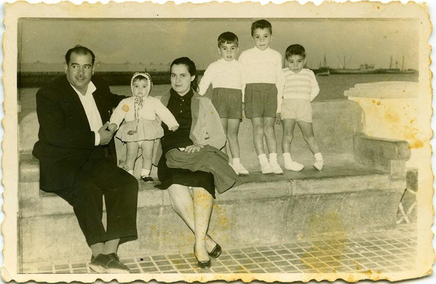 Familia Rodríguez Pérez en el parque municipal