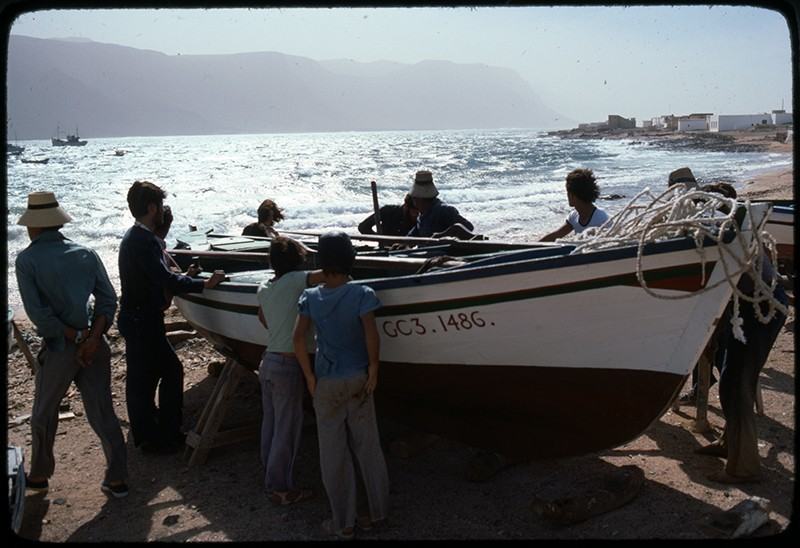 Varando un barco