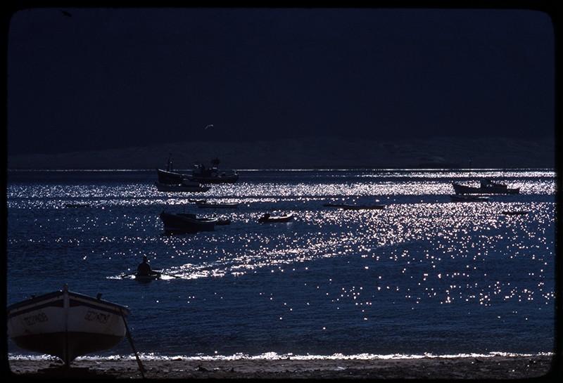 Barcos fondeados en Caleta del Sebo II