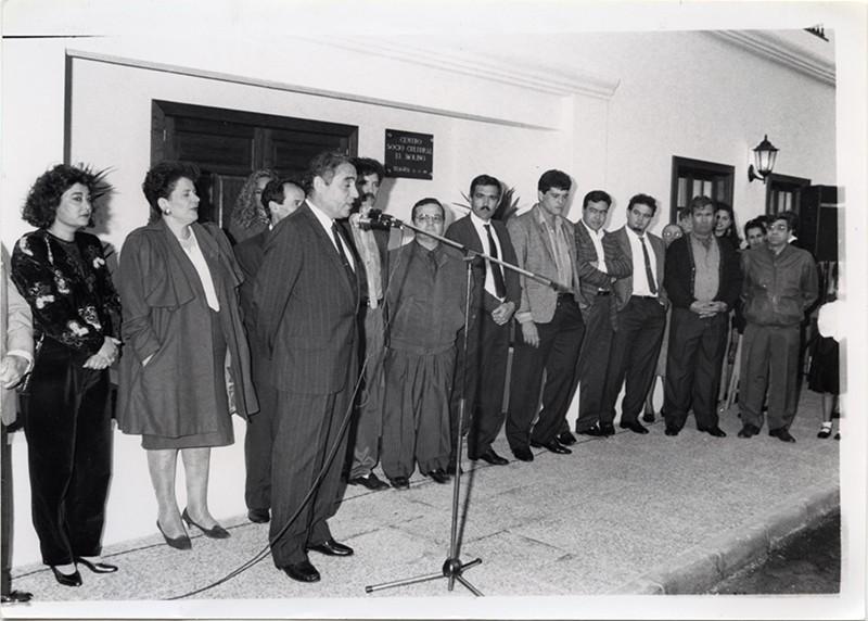Inauguración del Centro Sociocultural de Tiagua