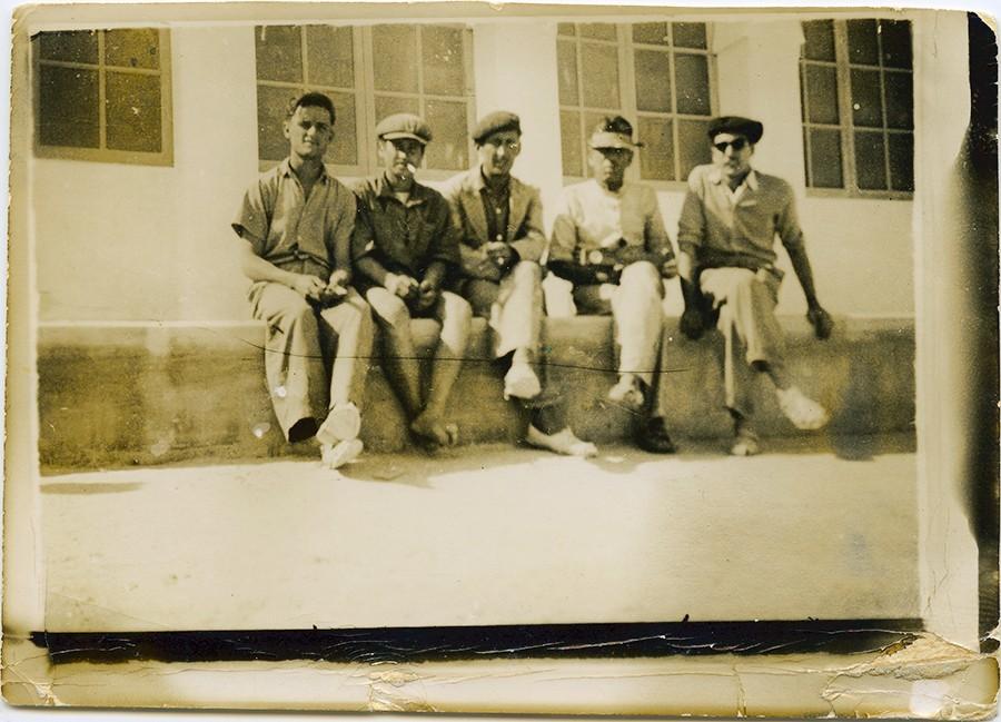 Manuel Betancort con otros capataces