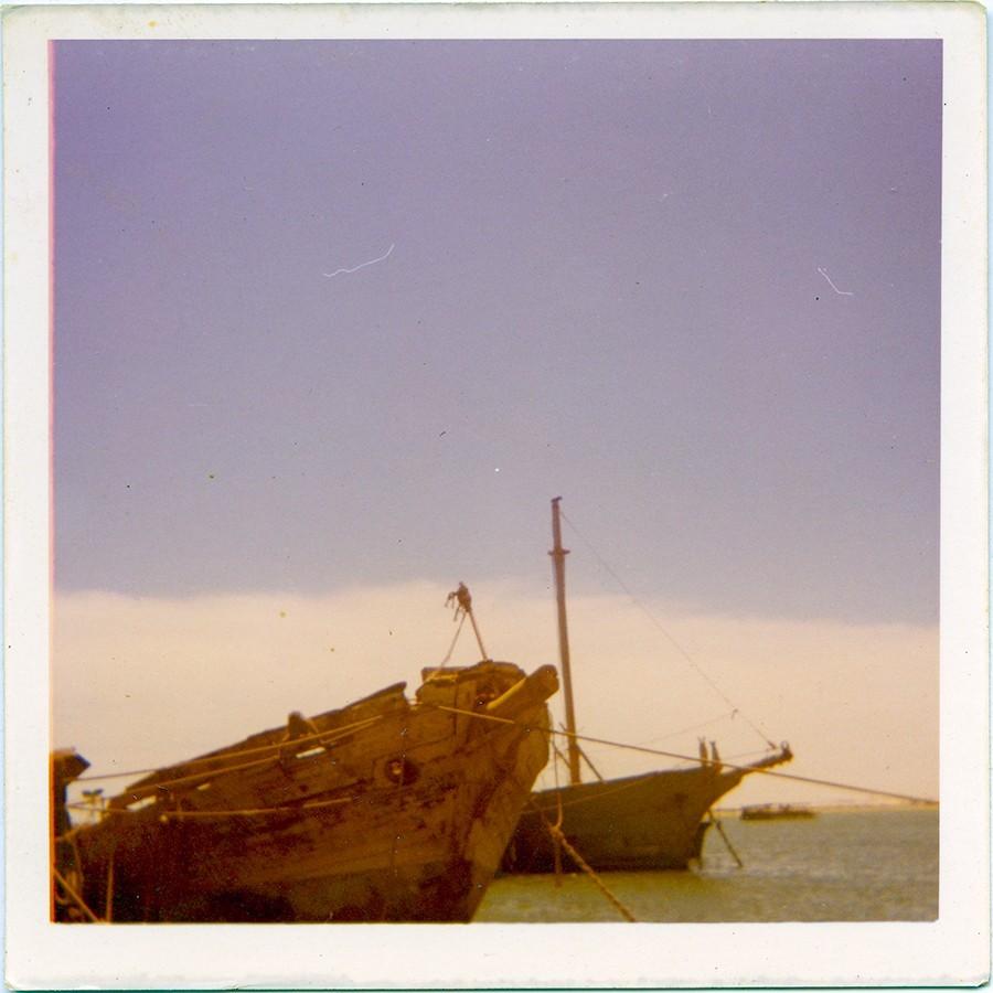 """Barcos fondeados en """"La Charca"""""""