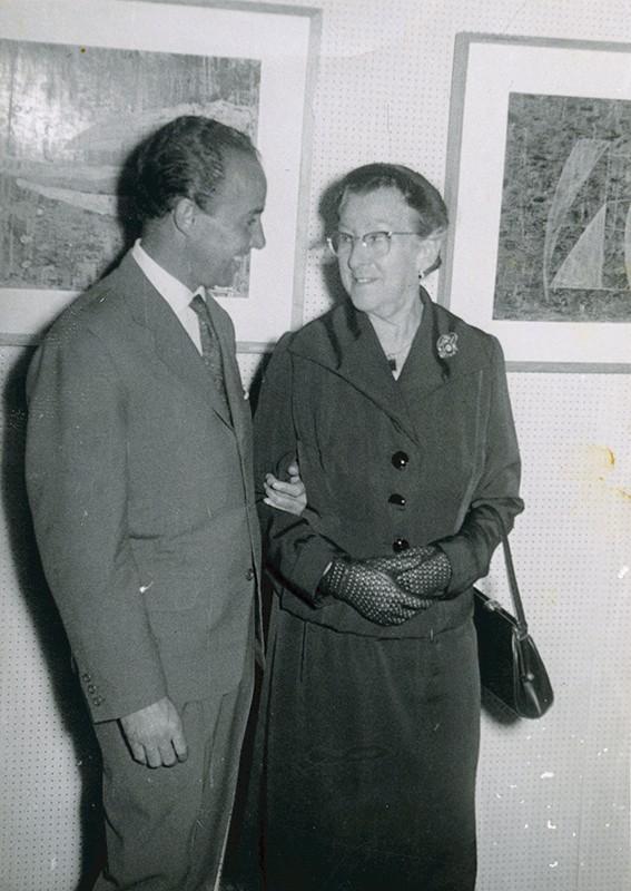 César Manrique y su madre II