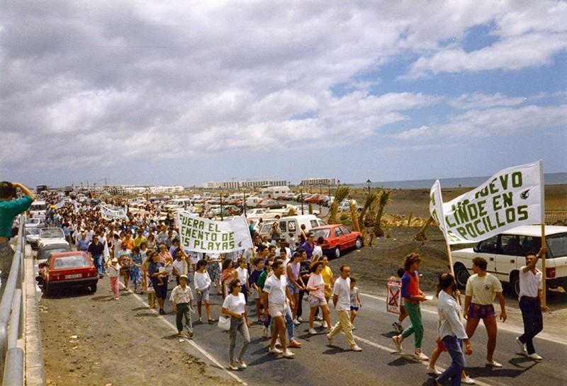 Manifestación en Los Pocillos V