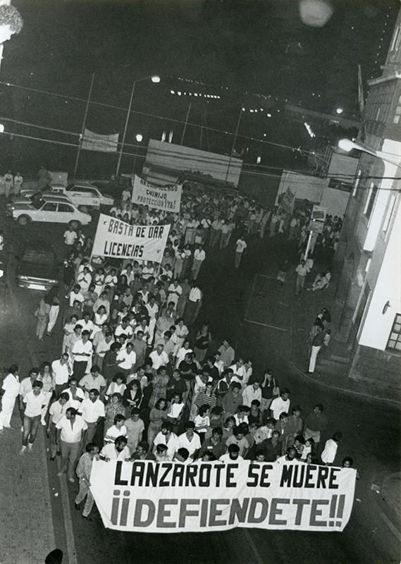 Manifestación de El Guincho