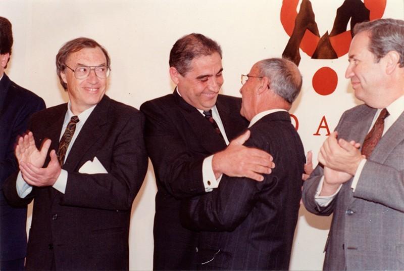 Dimas Martín y César Manrique