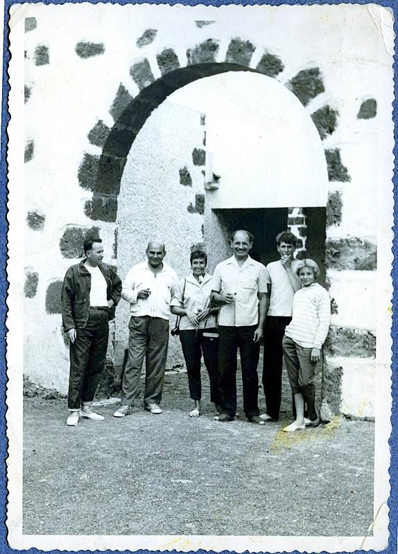 José Manuel de León y varios amigos
