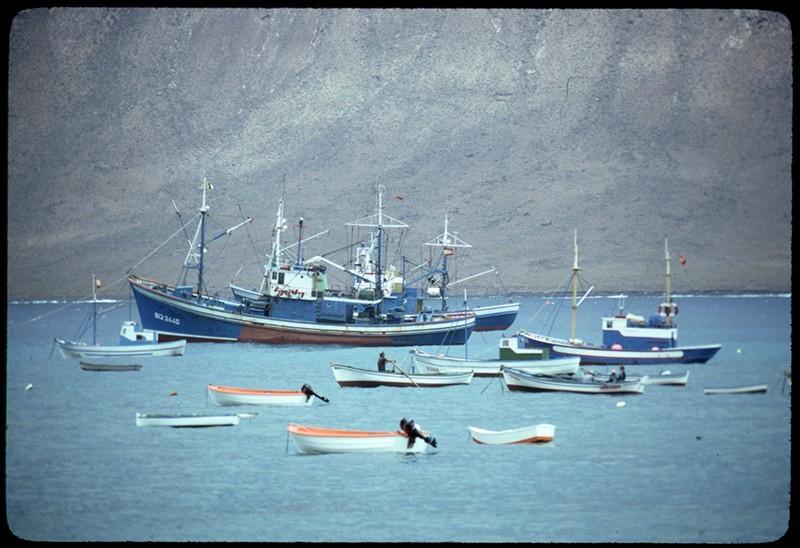 Barcos en Caleta del Sebo