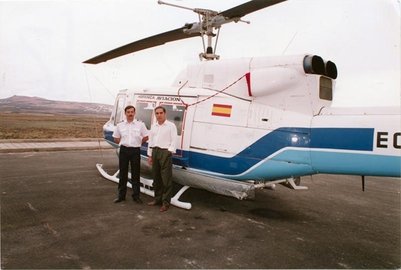 Helicóptero en el Complejo