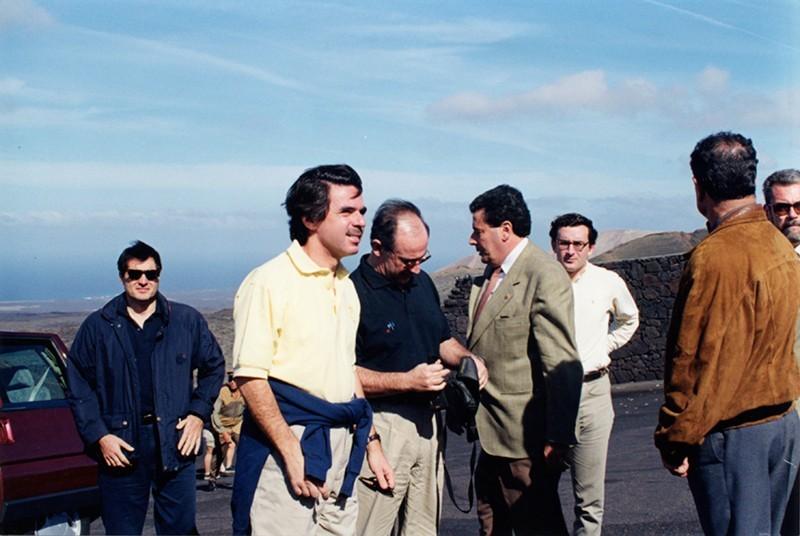 Visita de José María Aznar a Lanzarote