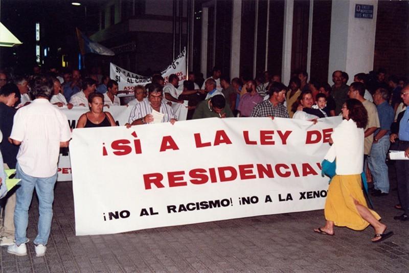 Manifestación Ley de Residencia