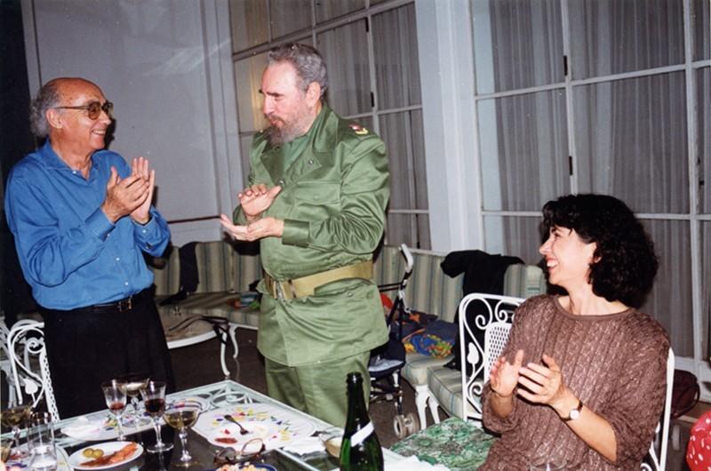 José Saramago y Fidel Castro