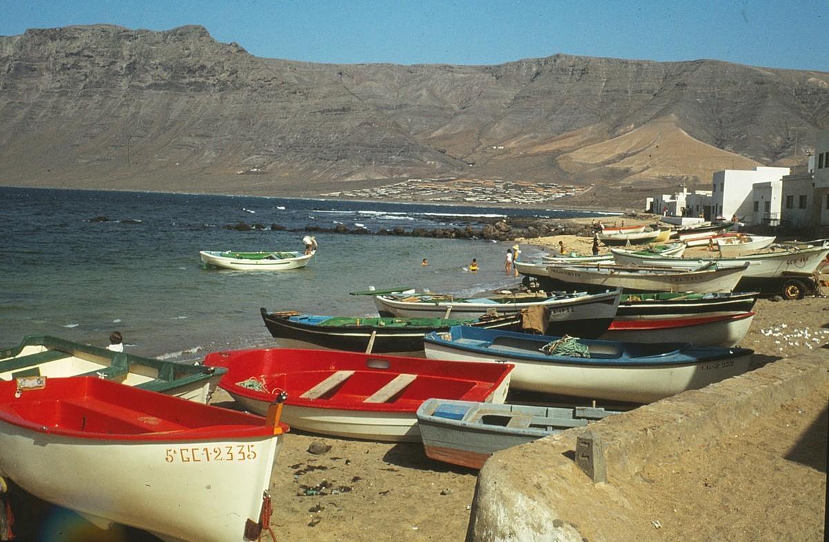 Barcos de la Caleta de Famara