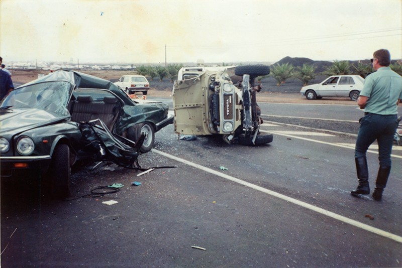 Accidente de César Manrique