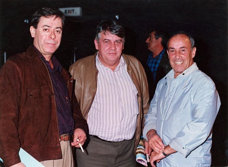 Antonio Coll, José A. Alemán y César Manrique