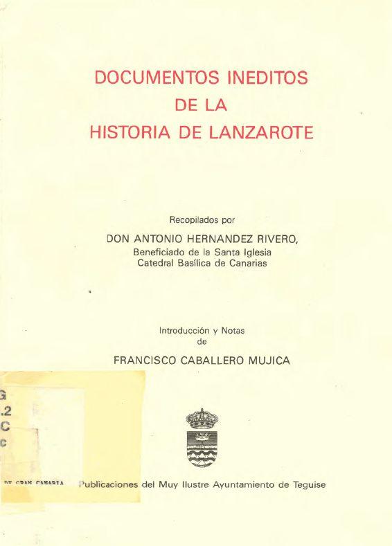 Documentos inéditos de la historia de Lanzarote
