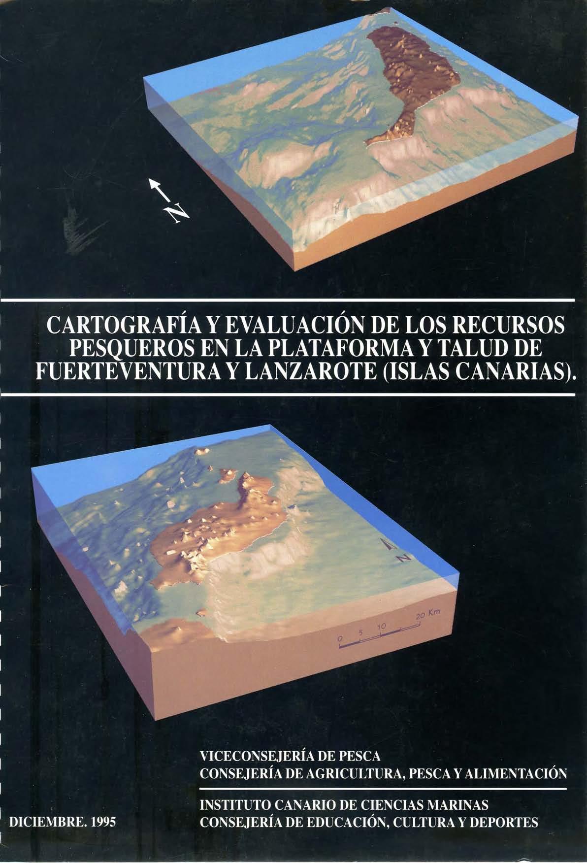 Cartografía y evaluación de los recursos pesqueros en la plataforma y talud de Fuerteventura y Lanzarote (Islas Canarias)