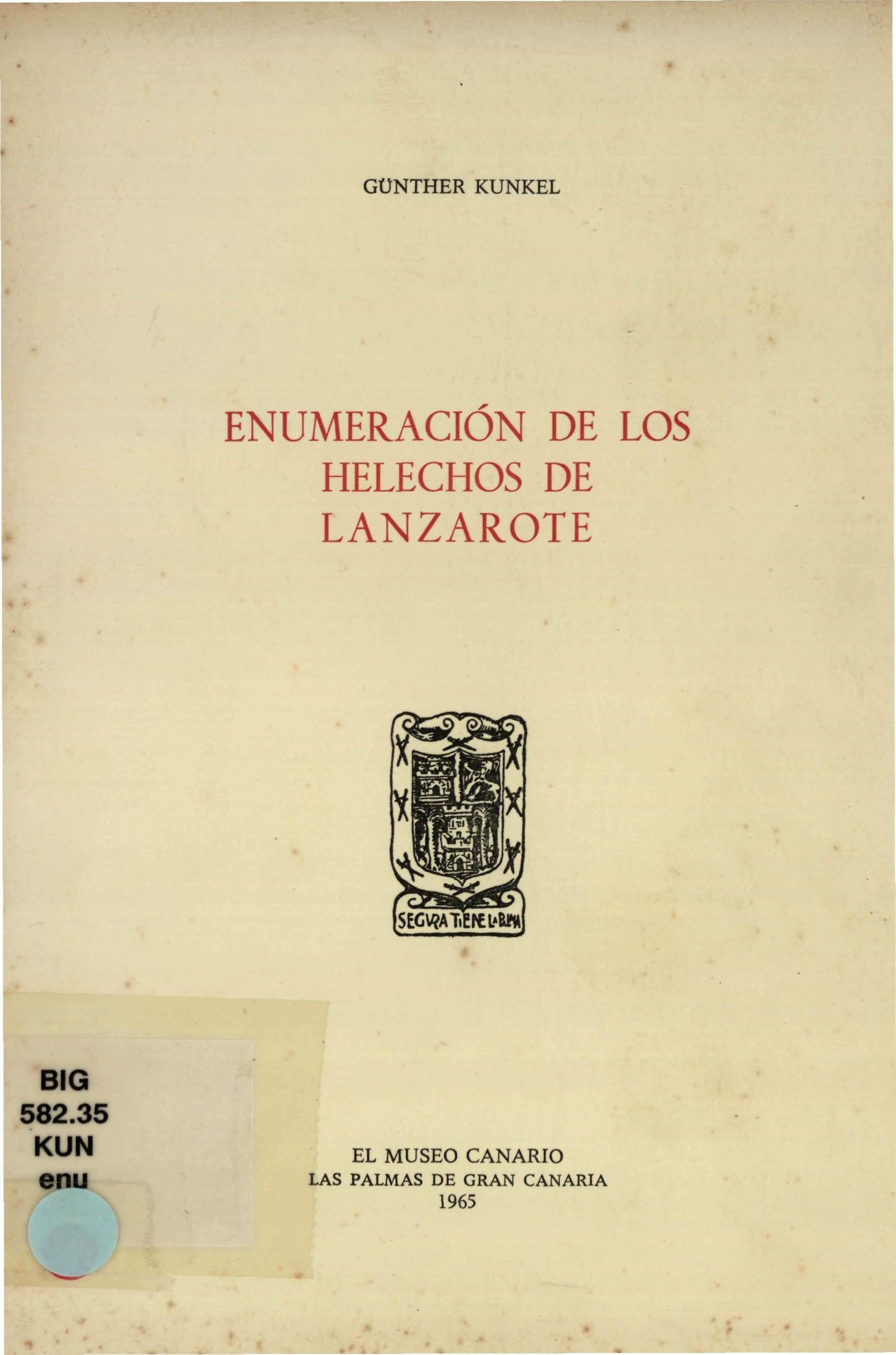 Enumeración de los helechos de Lanzarote