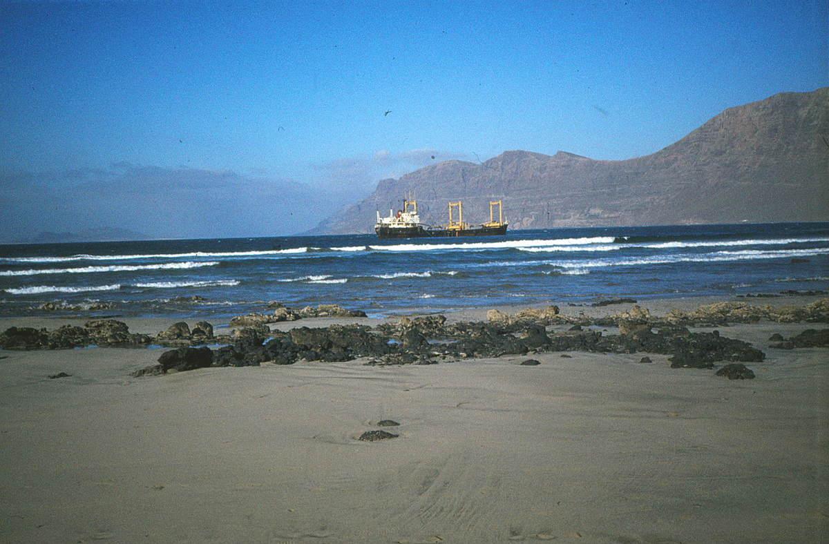 Barco hundido de La Caleta