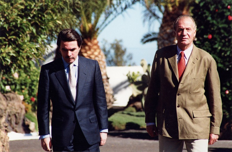 José María Aznar y Juan Carlos I