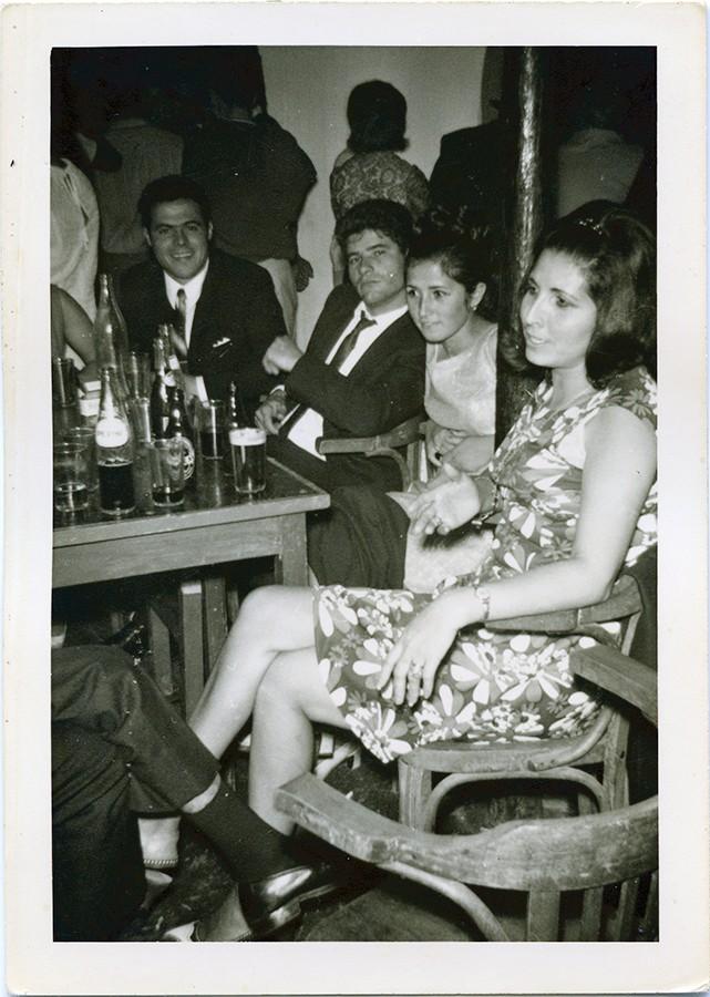 Olimpia Delgado y varios amigos